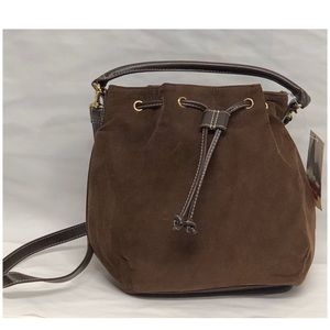 NWT Relic brown corduroy bucket bag